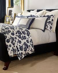ralph lauren modern glamour serena cream navy blue fl duvet cover king