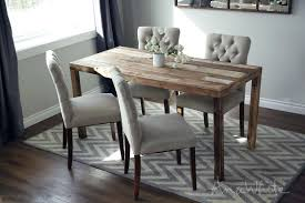diy modern dining table white parsons table modern reclaimed wood dining table projects diy modern outdoor