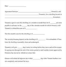 Basic Rental Agreement Template Sample Basic Rental Agreement 7 Documents In Pdf Word