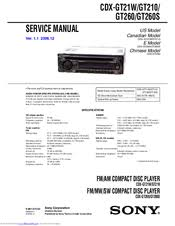 sony cdx gt260 manuals sony cdx gt260 service manual