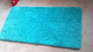 amazing turquoise bathroom rugs aquaturquoise pile rug ideal hall or bathroom rug measures
