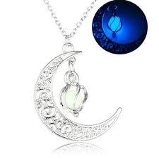 glow in the dark love heart necklace