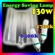 6400k Grow Light Details About 2700k 6400k Hydroponics Growlush 130w Cfl Grow Lights Wing Reflector For Growing