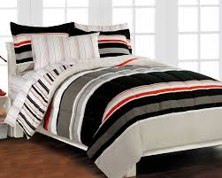 Cool Comforter Sets For Guys Nautical Stripe Gray 5p Boys Teen