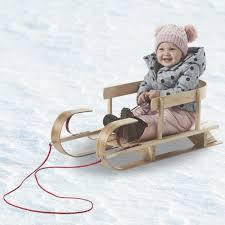 flexible flyer kindersleigh wood sled