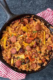 sausage and pepper rice skillet lifemadesimplebakes