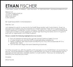 Livecareer Co Uk Forklift Driver Cover Letter Sample Cover Letter Templates