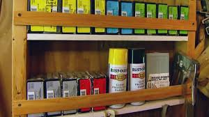 diy work or garage storage shelves