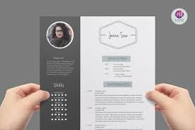 modern page resume template resume templates on creative market modern resume template