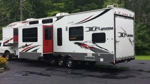 2010 keystone fusion 405 fifth wheel toy hauler 3