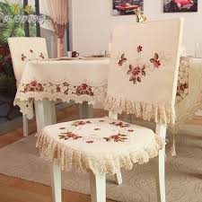 ty218 fashion embroidered rustic dining table fabric chair cover thickend chair cushion backrest covers fortable customize