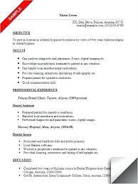 Dental Assistant Resume Objective Stirring Dental Assistant Resume Tomyumtumweb 78