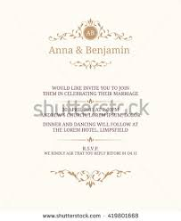 Vintage Invitation Template Fascinating Invitation Card With Monogram Wedding Invitation Save The Date