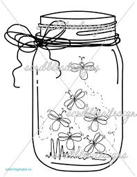 suddenly firefly coloring page mason jar bug clip art