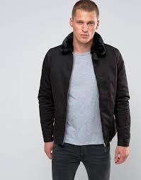 schott evans padded harrington detatchable faux fur collar black men jacket schott glass tubing the most fashion designs