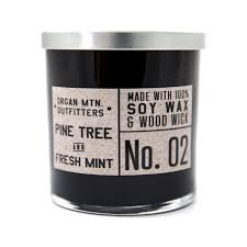 wood wick candle no2 pine tree and fresh mint 8 oz u2013 organ mountain outfitters pine tree candle t67