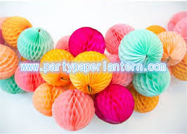 Decorative Tissue Paper Balls Adorable Recycled Round Paper Honeycomb Balls For Table Decoration Tissue