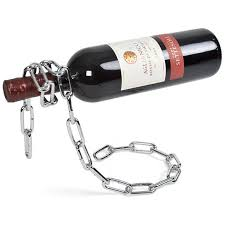 picture of chain floating wine bottle holder