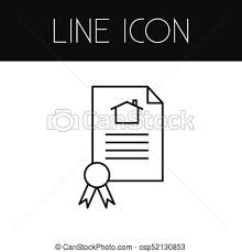 Certificate Outline Isolated Certificate Outline File Vector Element Can Be Used For File Certificate House Design Concept