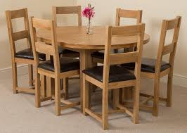 edmonton solid oak extending oval dining table with 6 lincoln solid oak dining chairs light