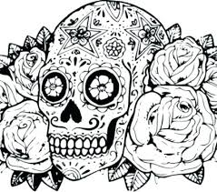 Sugar Skull Printable Coloring Pages Printable Skull Coloring Pages
