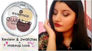 affordable eyeshadow palette in india essence quattro eyeshadow palette review makeup tutorial