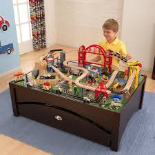 kidkraft metropolis train set table with 100 accessories included com