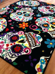 sugar skull rug photo 4 of 8 day the dead inspired flooring superior bath sugar skull rug