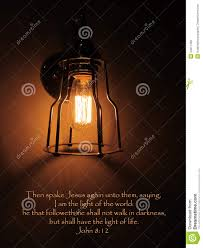 Light In The Darkness Bible Verse Jesus Light Of World Bible Verse Stock Image Image Of