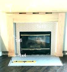 covering brick fireplace with tile refacing stone veneer covering brick fireplace