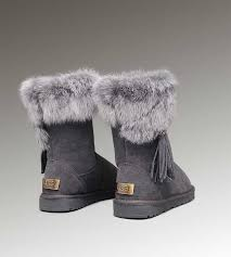 Very Cheap UGGs For Sale Short Fox Fur 2894 Grey larger image