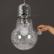 creative personality 300mm x 450mm large vintage style pendant lamp light iron glass big bulb lamp for bar lighting clear golden dia15cm