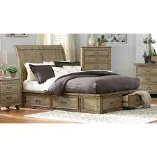 Driftwood Bedroom Furniture Platform Standard Eastern King Bed Driftwood