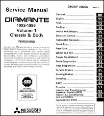 1992 1996 mitsubishi diamante repair shop manual set original covers all 1992 1993 1994 1994 1995 and 1996 mitsubishi diamante models including es and ls these books measure 8 5 x 11