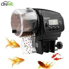 Onme <b>LCD Electronic Automatic</b> Fish Feeder Dispenser Timer ...