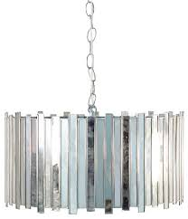 worlds away faceted antique mirror pendant light