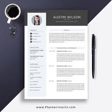 Modern Elegant Font For Resume 2020 Elegant Creative Resume Template Modern Cv Template Cover Letter Word Resume 1 3 Page Editable Resume Top Selling Resume Job Winning