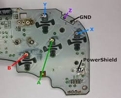 projects a better gamecube controller part 2 electrical execution figure 6 gamecube controller button pads sanded to copper and z and shield buttons removed