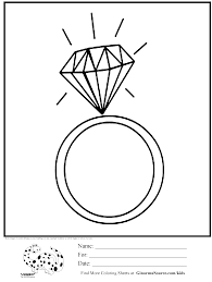 Small Picture coloring page diamond ring jewelry Its Party time Pinterest