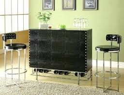 corner furniture piece. Bar Units Furniture Acme 3 Piece Table Set In Chrome Black Corner