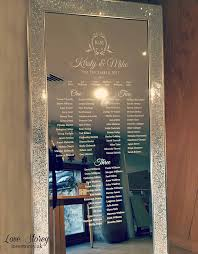 Vinyl Seating Chart Full Length Mirror Wedding Table Plan Vinyl Lettering