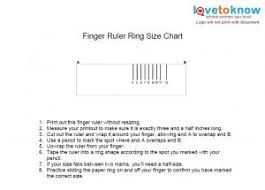 Printable Ring Size Chart Actual Size Printable Ring Size Chart Lovetoknow