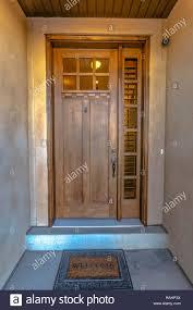 Elegant front doors Beveled Glass Elegant Front Door With Welcome Mat Stock Image Modern Masters Cafe Blog Elegant Front Door Stock Photos Elegant Front Door Stock Images