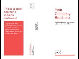 Six Panel Brochure Tri Fold Business Medical Brochure Red White Design