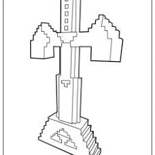 Nonsensical Minecraft Sword Coloring Pages Free Sheets Diamond