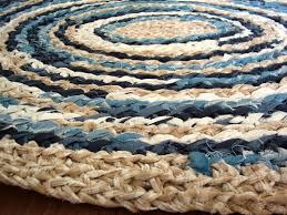 beachy oval rag rug