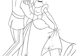 Cinderella Coloring Pages Printable Book Disney Castle Dpalaw