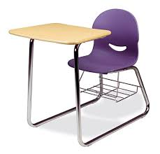 chair desk combo. virco i.q. series combo chair desk with wire bookrack d
