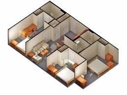 enchanting modern 3 bedroom bungalow floor plans 3d free bedroom bungalow house plans ideas best rheumolpus