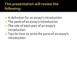 how to write an essay introduction presentation
